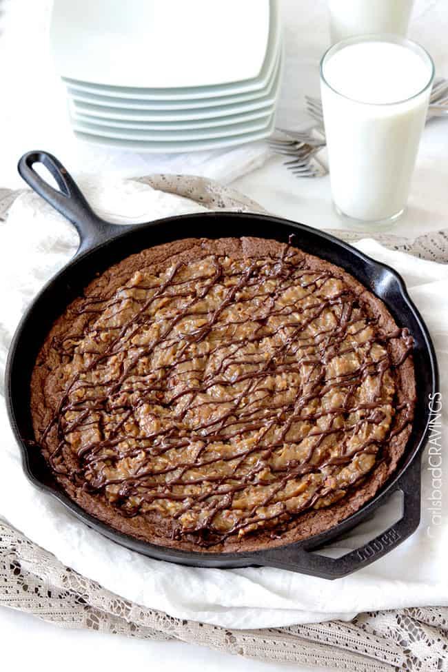 German-Chocolate-Cake-Cookie-Skillet5