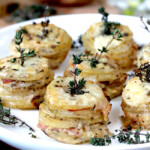 Gruyere and Ham Potato Stacks