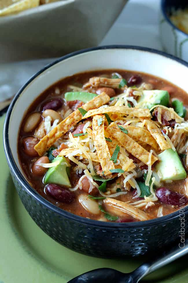 Bbq Chili With Chicken Slow Cooker Or Stovetop Carlsbad Cravings