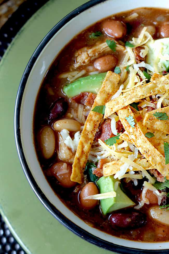 Slow Cooker BBQ Chicken Chili | Carlsbad Cravings