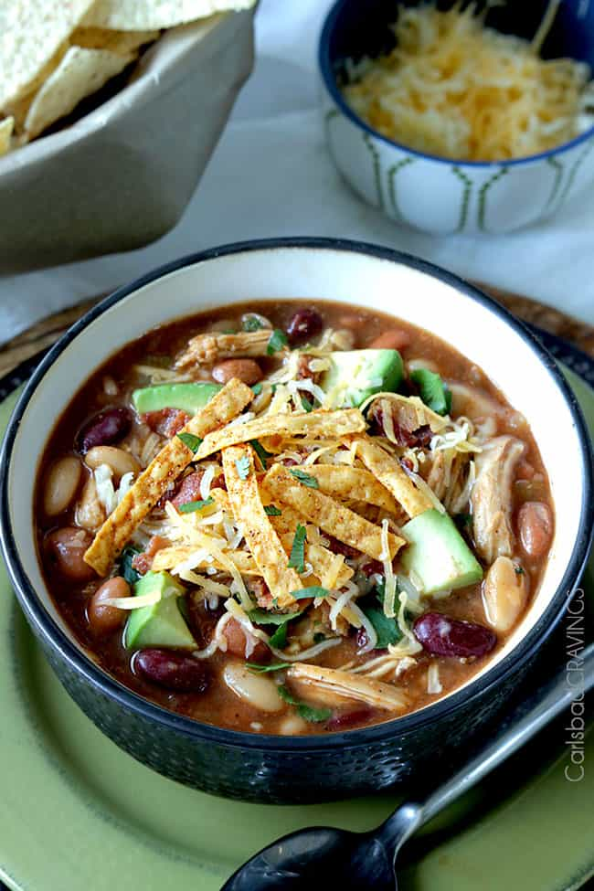 Crock Pot BBQ Chicken Chili | Carlsbad Cravings