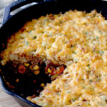 Cheesy Hash Brown Shepherd's Pie