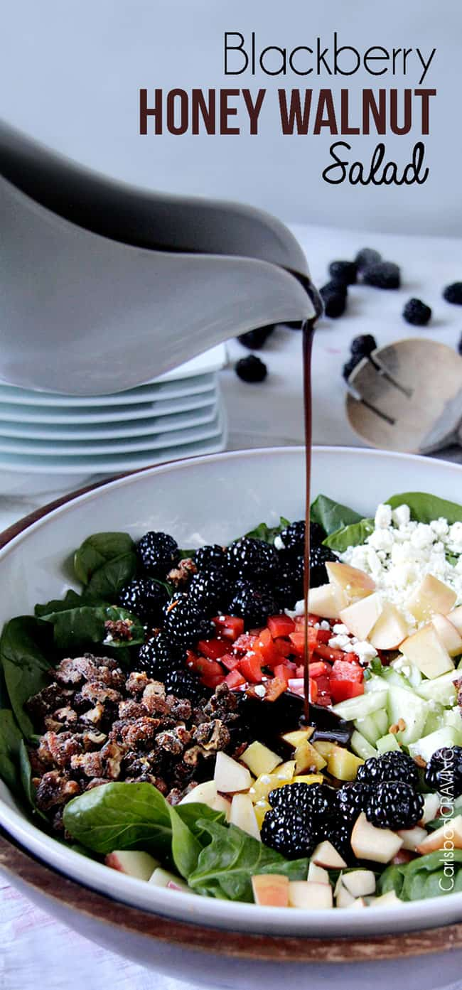 Blackberry Honey Walnut Salad with Easy Balsamic Vinaigrette  | Carlsbad Cravings