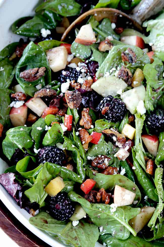 Blackberry Honey Walnut Salad. May this be the only salad you get into ...