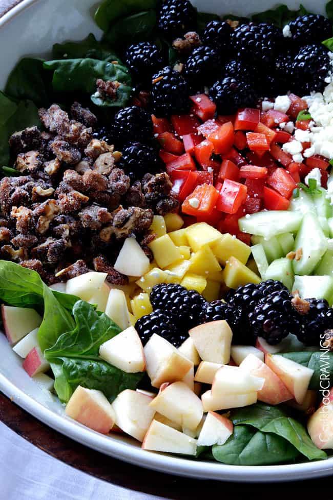 Blackberry Honey Walnut Salad with Easy Blackberry Balsamic ...