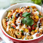 Skinny Santa Fe BBQ Ranch Chicken Pasta