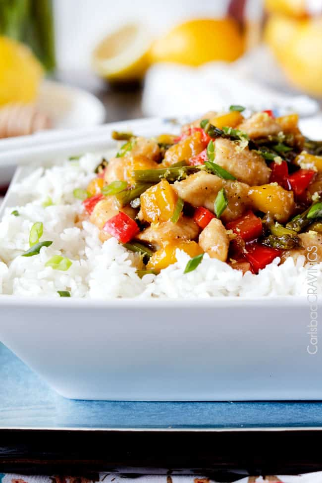 Honey Lemon Chicken Stir Fry Recipe | Carlsbad Cravings