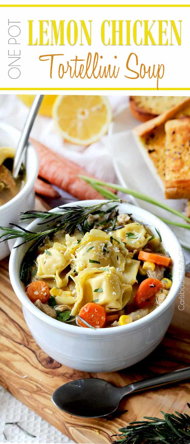 One Pot 30 Minute Lemon Tortellini Soup | Carlsbad Cravings