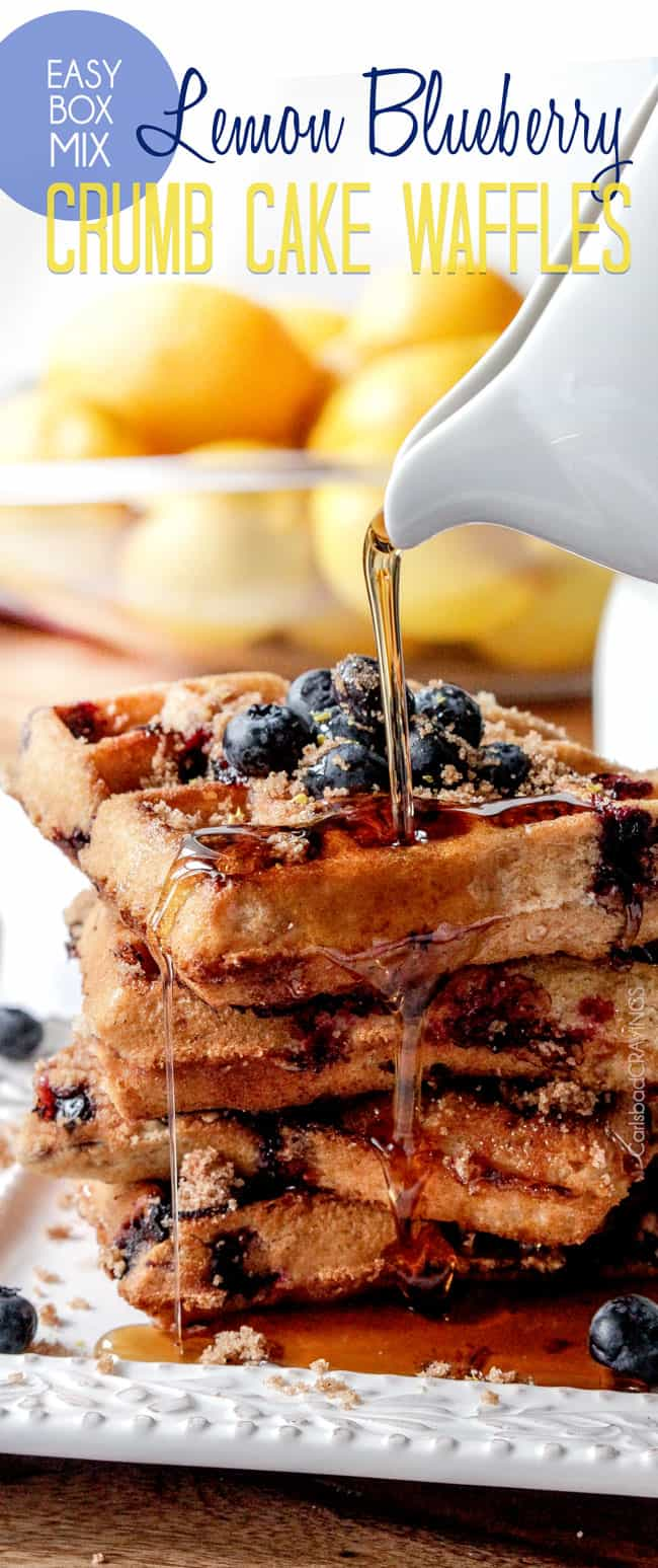 Blueberry Waffles Recipe | Carlsbad Cravings