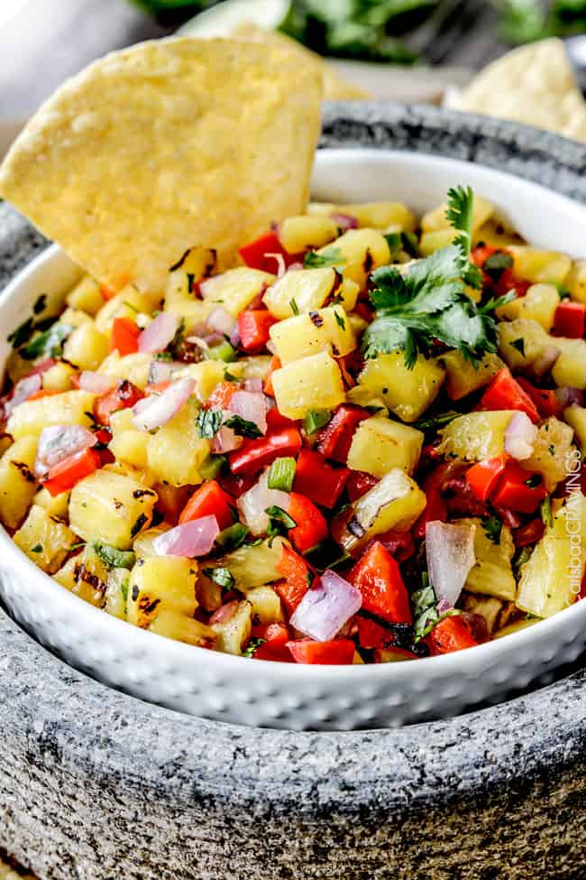 And if everything tasted better with this Grilled Pineapple Salsa.
