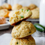 Honey Jalapeno Cornbread Drop Biscuits