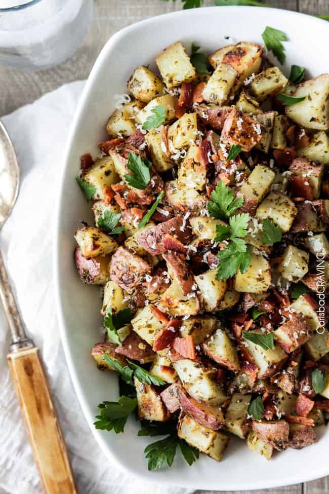 Roasted-Pesto-Bacon-Potatoes-10