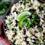 One Pot Cilantro Lime Rice (with Black Beans)