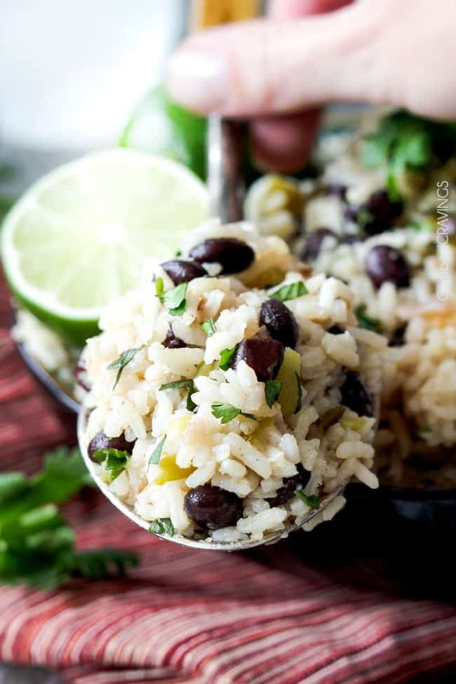 Baked Salsa Rice With Green Chiles, Lime, And Cilantro Recipes ...