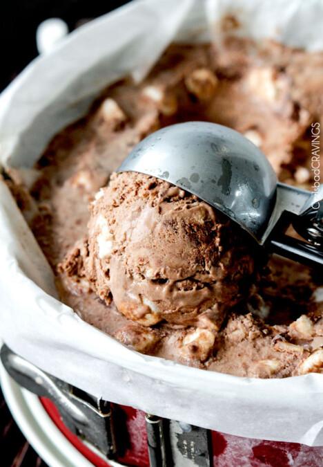 Homemade Rocky Road Ice Cream Recipe | Carlsbad Cravings