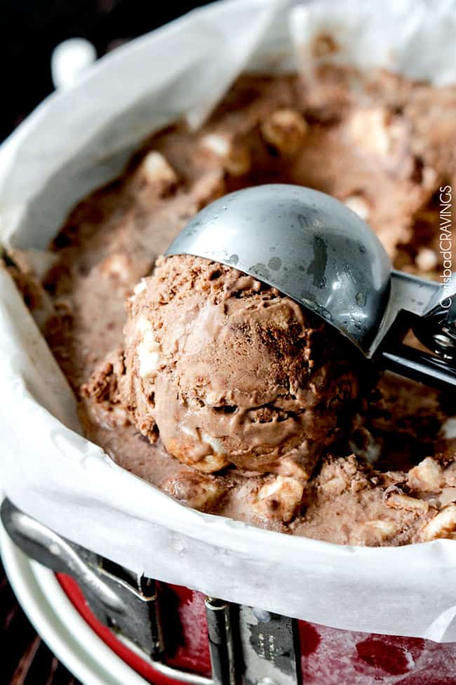 Homemade Rocky Road Ice Cream Recipe | Carlsbad Cravings