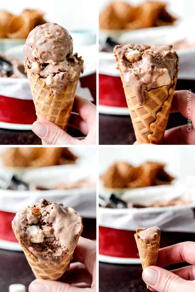 Rocky Road Ice Cream Recipe | Carlsbad Cravings