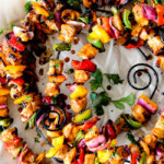 Sticky Honey Buffalo Chicken Fajita Kebabs