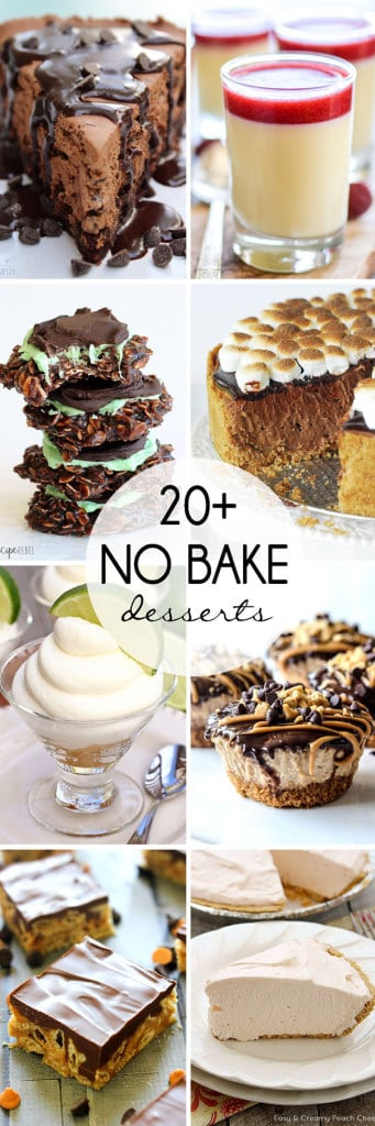 Over 20 No Bake Desserts to keep your body cool and your stomach full all summer long! #nobake #summerdessert #summer #dessert