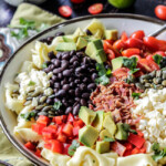 Southwest Tortellini Pasta Salad with Creamy Salsa Dressing