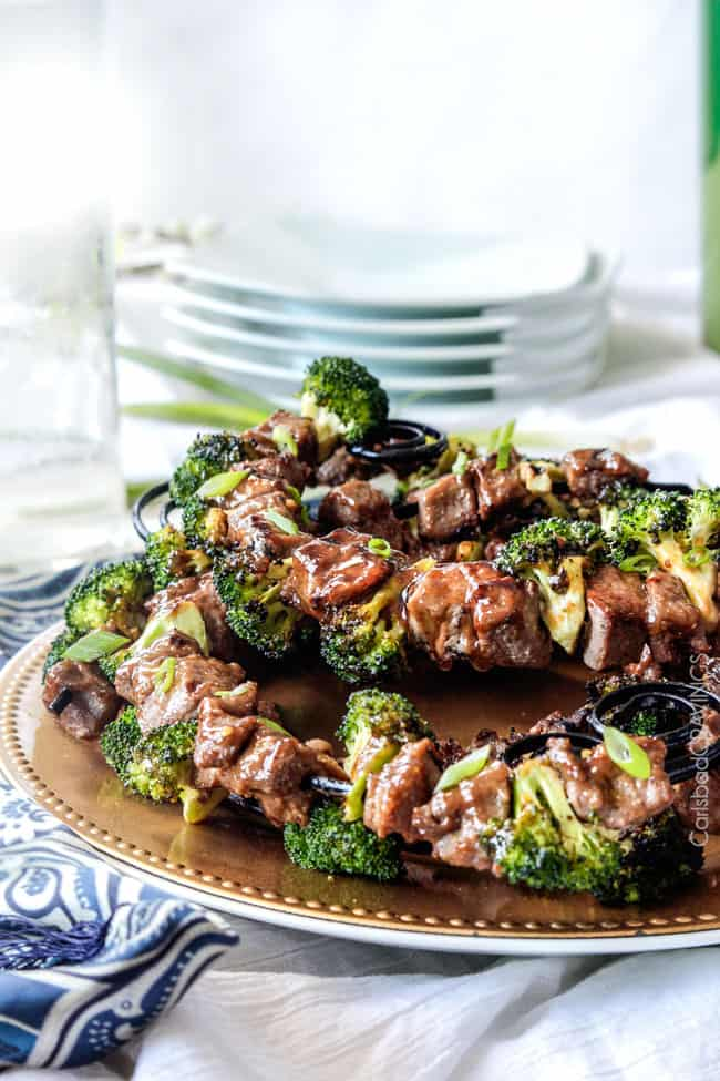 Your favorite Beef and Broccoli now on the grill! Crazy juicy Grilled Beef and Broccoli Kebabs bursting with flavor from a simple marinade/glaze in one!