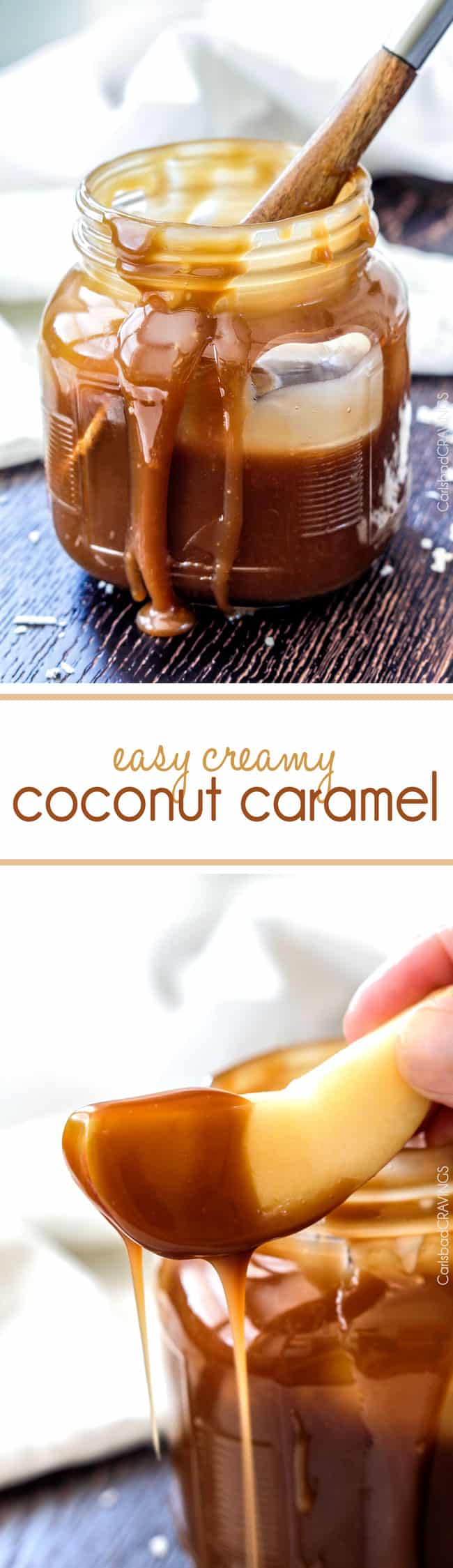 FOOL PROOF Easy Creamy Coconut Caramel Sauce - Rich, creamy, buttery, sweet with an undertone of irresistible coconut and 1,000 TIMES BETTER than any store bought caramel. Makes everything better!