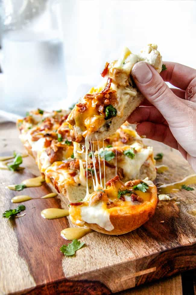 Alice Springs Chicken French Bread Pizza