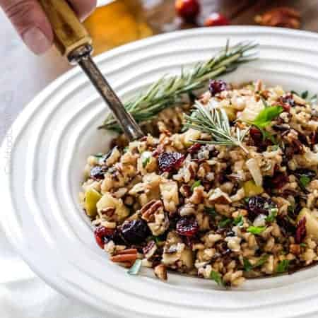 ... apples and roasted pecans for an unbelievable savory sweet side dish