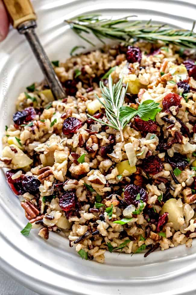 Cranberry Apple Pecan Wild Rice Pilaf | 18 Christmas Side Dishes Every Christmas Table Needs