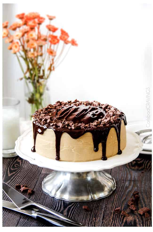 Crazy moist Caramel Milk Chocolate Cake, busting with milk chocolate ...