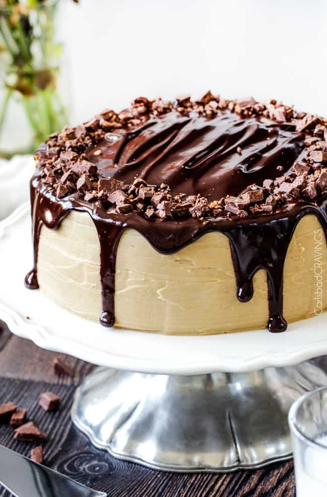 Salted Caramel Milk Chocolate Cake - Carlsbad Cravings
