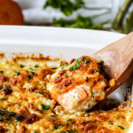 Herb Scalloped Sweet Potatoes with Bacon and Gruyere