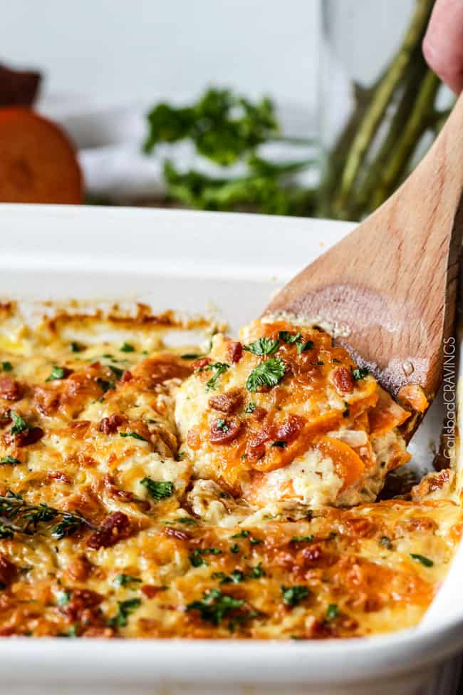 Scalloped Yukon Gold And Sweet Potato Gratin With Fresh Herbs Recipes ...