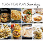 Easy Meal Plan Sunday 15