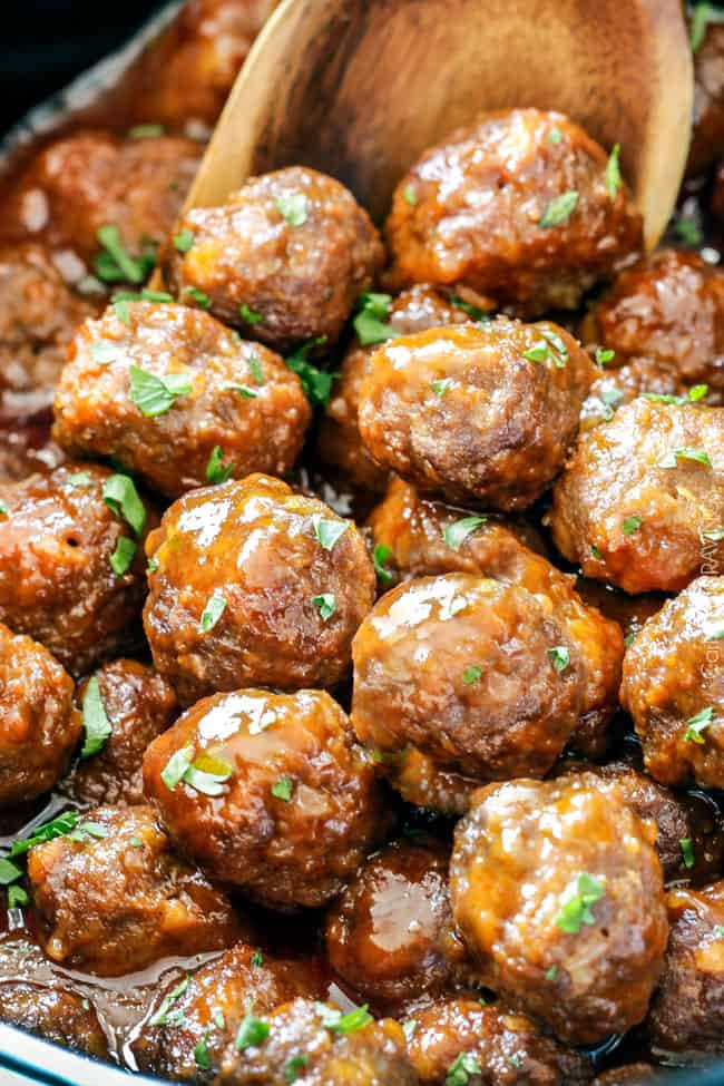 Slow Cooker Honey Buffalo Meatballs Video How To Freeze Prep Ahead
