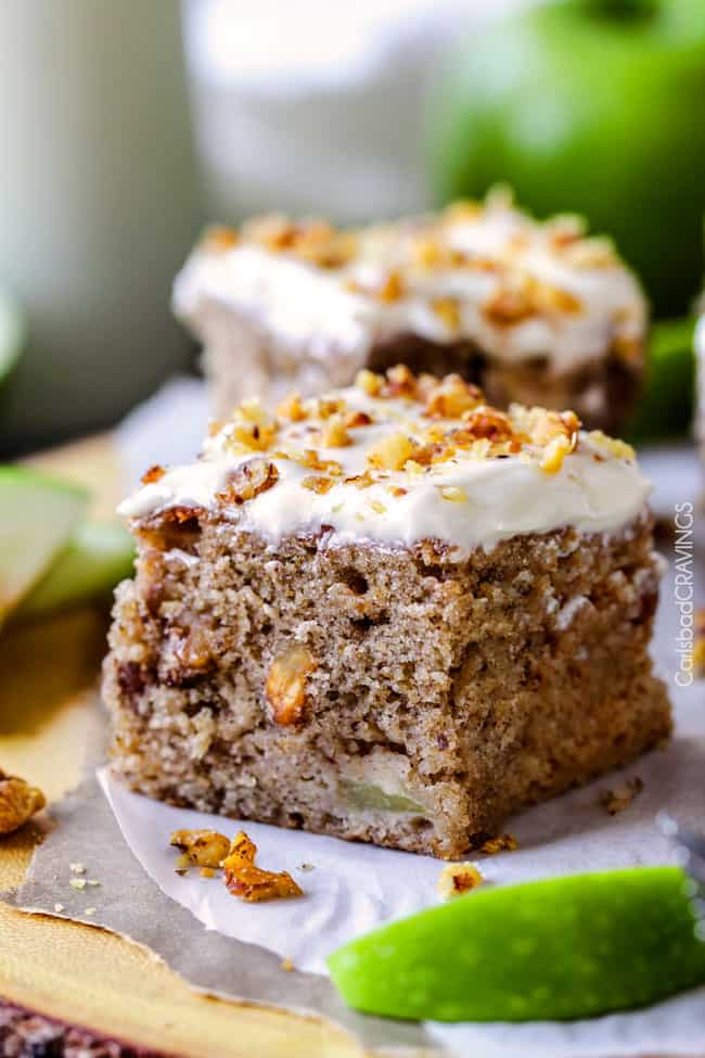 Maple Apple Spice Cake With Spiced Cream Cheese Frosting