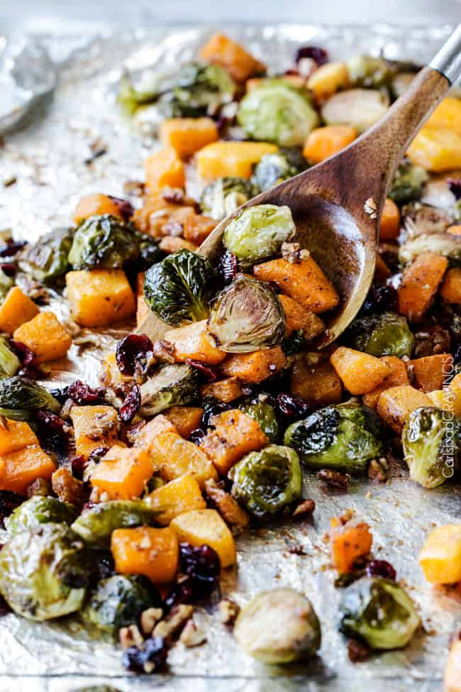 Roasted Maple Dijon Brussels Sprouts and Butternut Squash ...