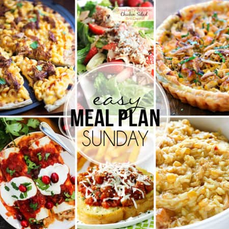 "STRESS FREE Weekly Meal Plan Sunday 22 so you always know ""What's For Dinner?"" before ever being asked. Top recipes from favorite bloggers who have done all your time consuming meal planning for you!"