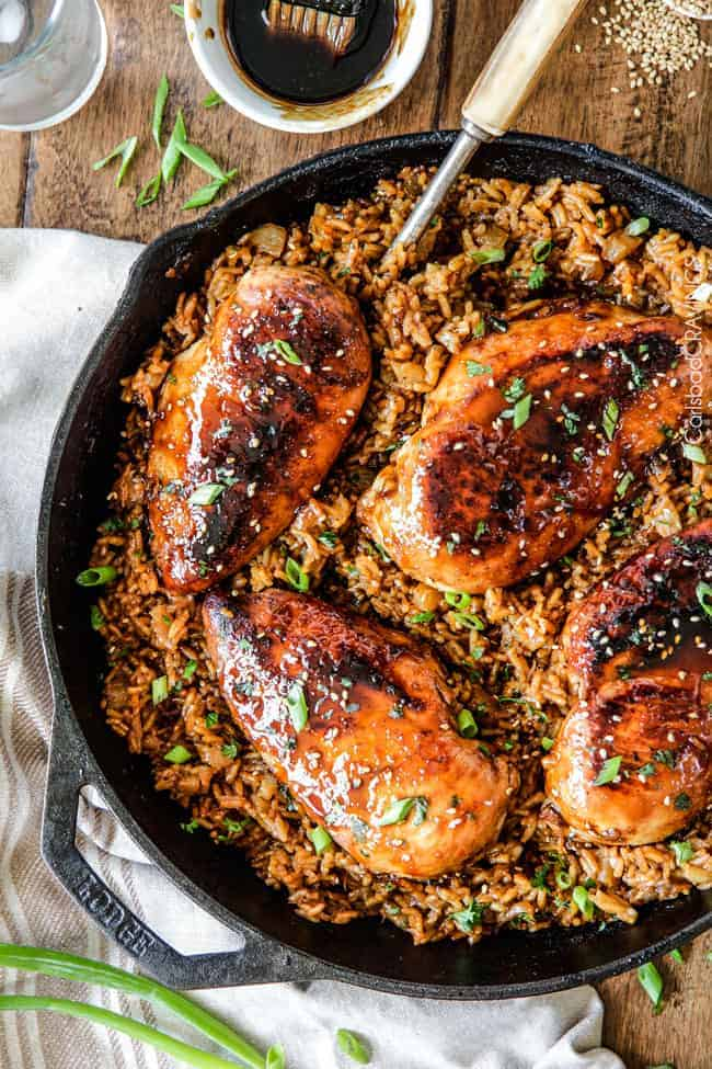 Easy One Pot Teriyaki Chicken With Pineapple Rice Dripping With Flavor And Cooked All In The