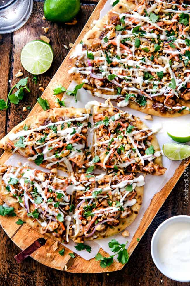Thai Chicken Flatbread Pizza | The Recipe Critic