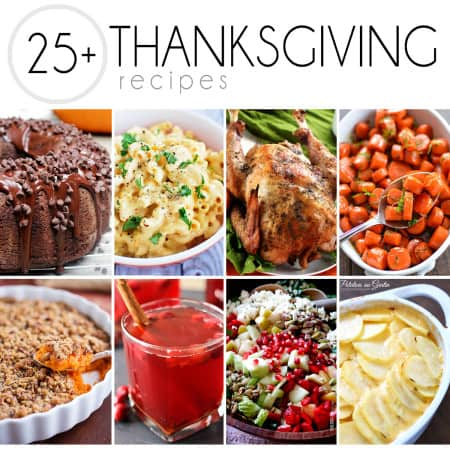 A one stop shop for all your Thanksgiving needs! Over 25 Thanksgiving recipes including sides, pies, turkey and more!