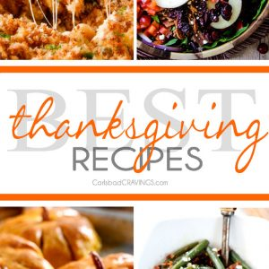All the best Thanksgiving Recipes from appetizers, sides and desserts all in one place! You are guaranteed to find a new family favorite!