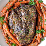 Mom's Crazy Tender Baked Pot Roast, Carrots and Gravy