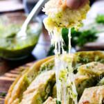 Cheesy Pull Apart Pesto Bread