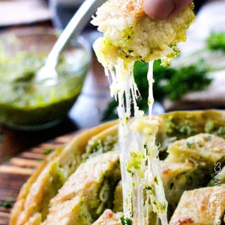 Cheesy Pull Apart Pesto Bread from ABC's The Chew
