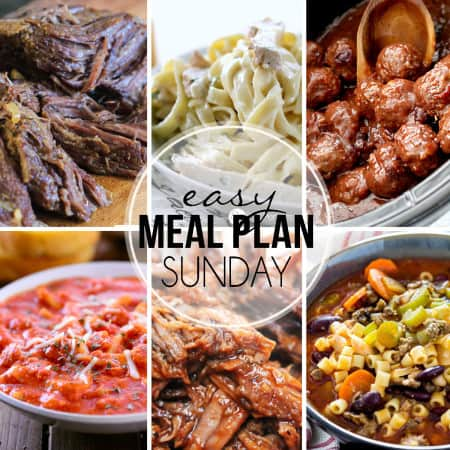 Easy Meal Plan Sunday 27