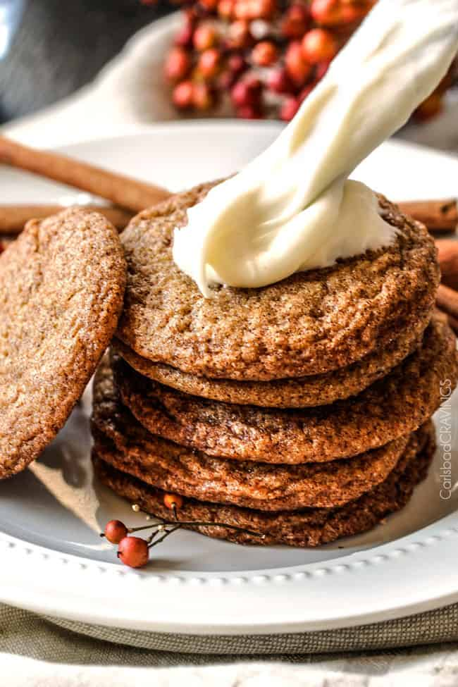 Soft and Chewy Snickerdoodle Gingersnap Cookies with Eggnog Frosting ...