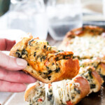 Easy Spinach Dip Stuffed French Bread (+ Video!)