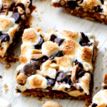Easy Caramel Nut S'mores Bars