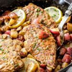 Chicken and Potato Skillet in Creamy Lemon Paprika Sauce